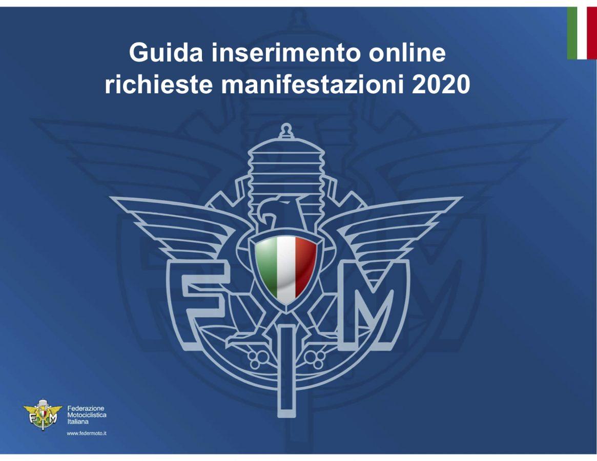 Calendario Fmi 2020.Guida Inserimento Online Richieste Manifestazioni 2020 Fmi